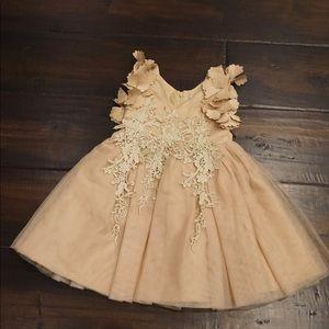 Tan formal dress girls